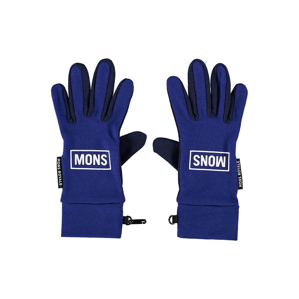 Mons Royale Elevation Gloves Navy/Electric Blue 2019
