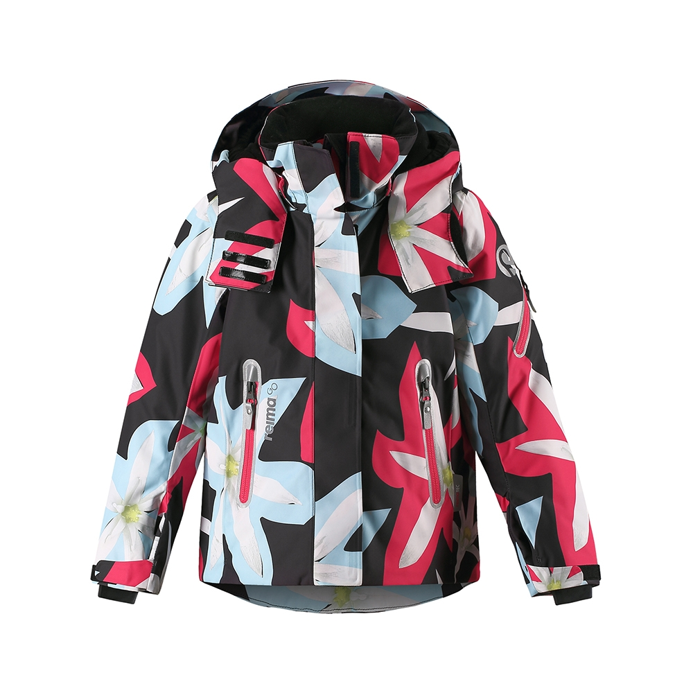 Reima Roxana Girls Jacket Black Print 2019
