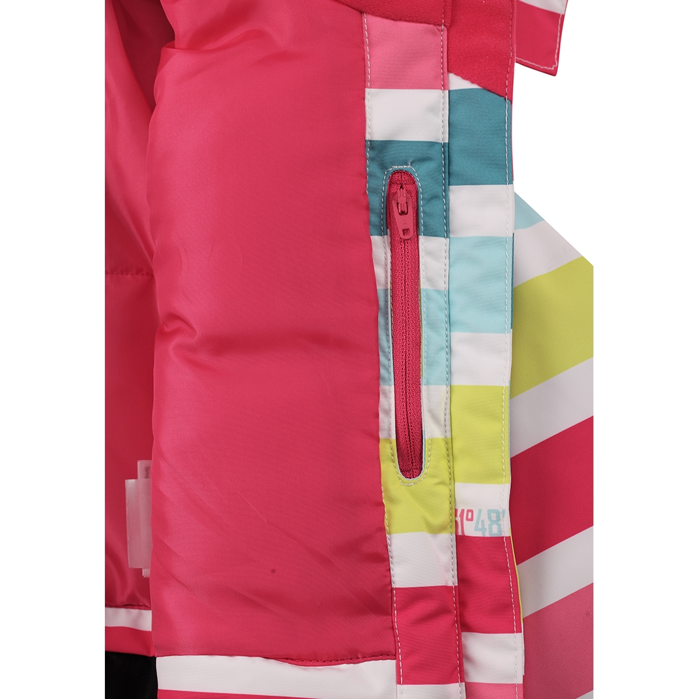 Reima Roxana Girls Jacket Pink Stripe 2019
