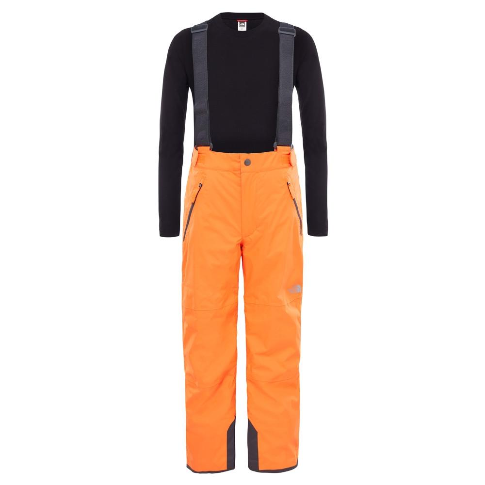 The North Face Youth Snowquest Suspender Plus Pant Power Orange 2019
