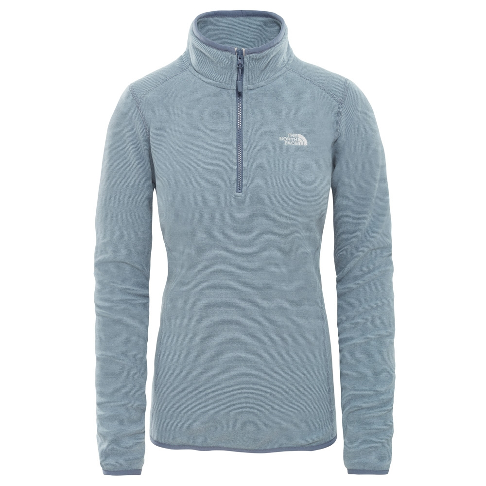 ccd14c411f68 The North Face Womens 100 Glacier 1 4 Zip Fleece Grisaille Grey   Flint  Stone .