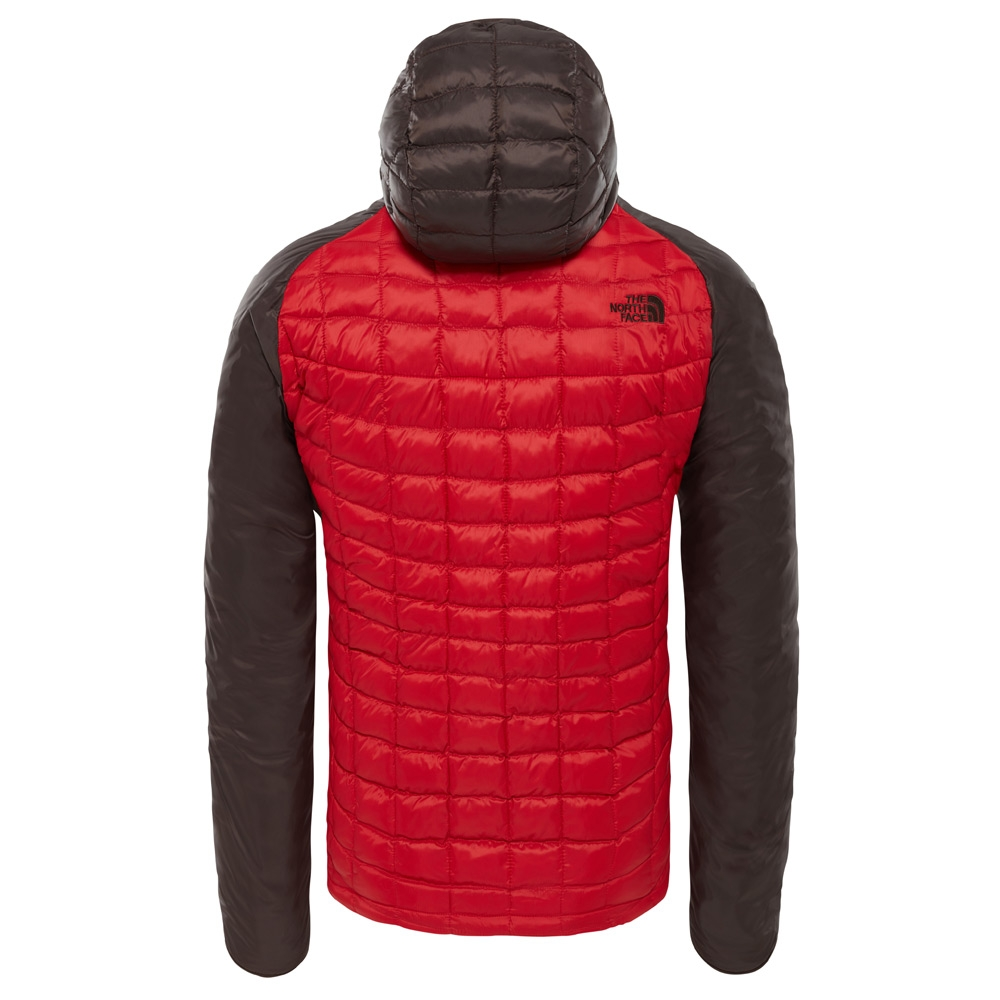 The North Face Mens ThermoBall Sport Hoodie Rage Red / Bittersweet Brown 2019