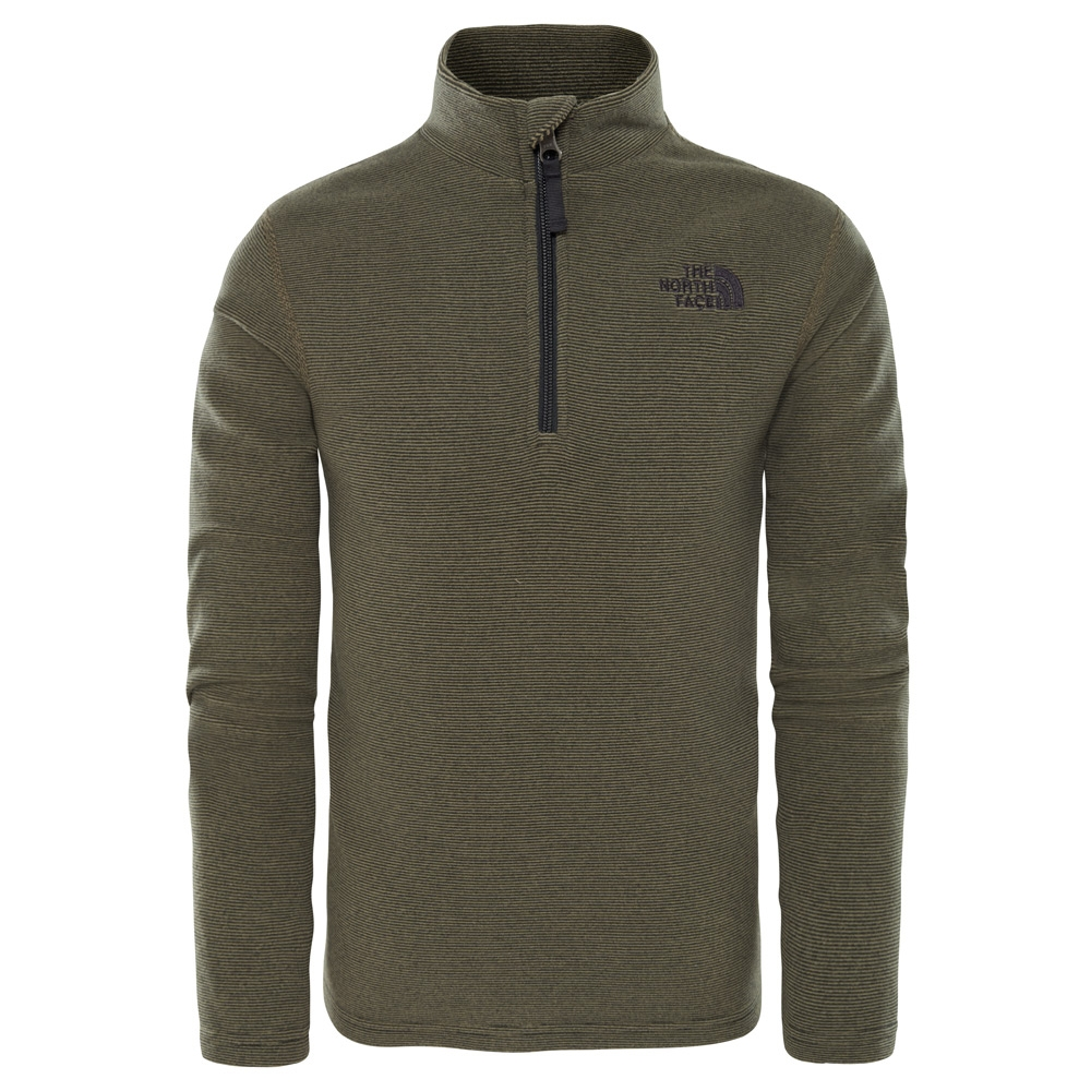 The North Face Youth Glacier 1/4 Zip Fleece New Taupe Green 2019