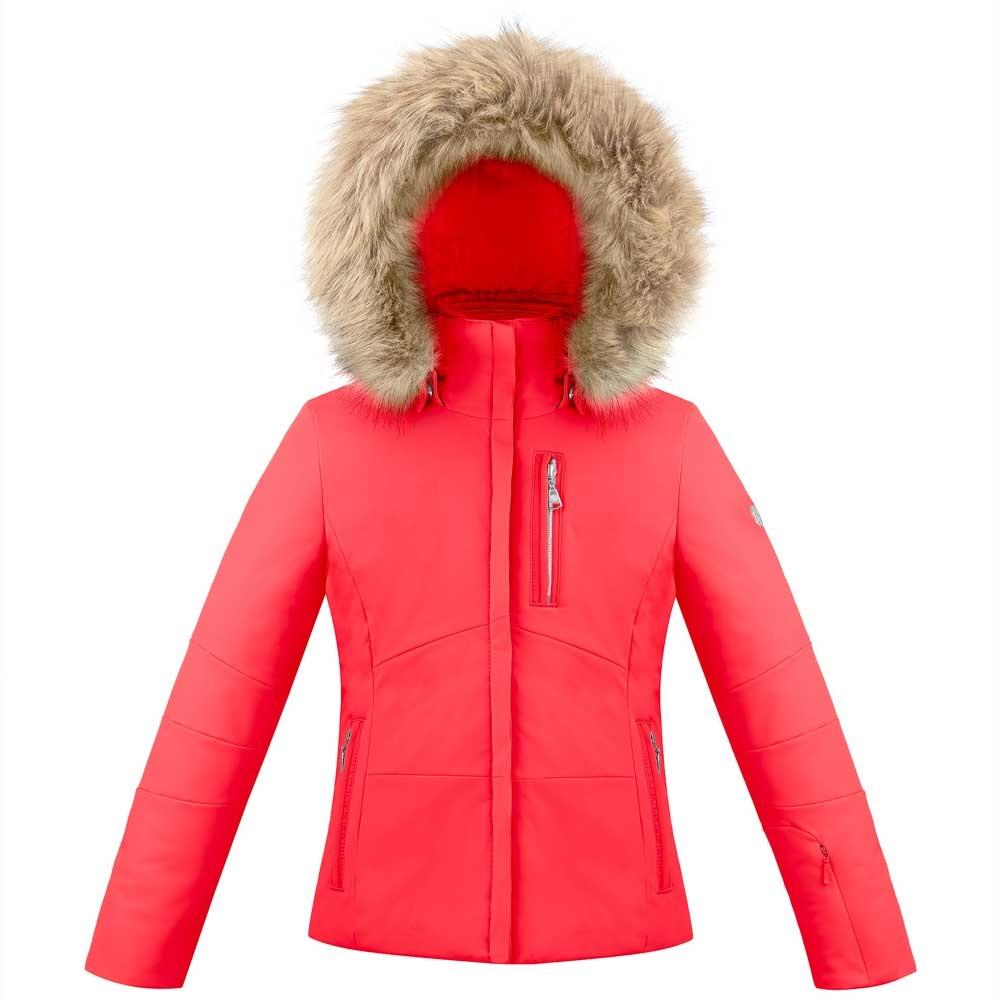 Poivre Blanc Junior Stretch Faux Fur Jacket Scarlet Red 2019