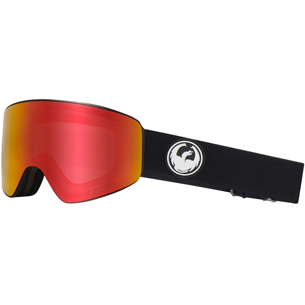 Dragon PXV Black Goggle with Red Ion Luma Lens plus Spare Lens 2019