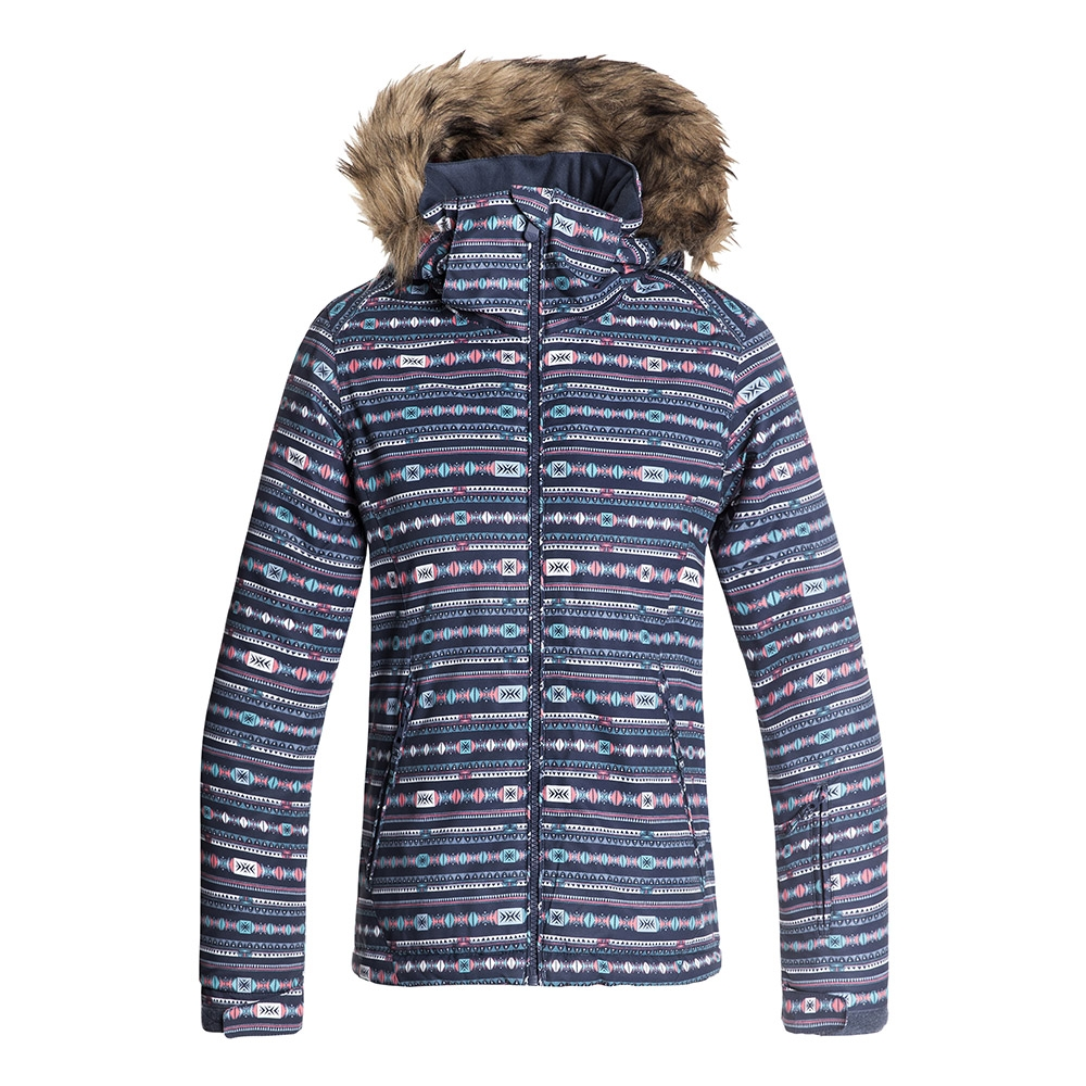 928519eebc4 Roxy Jet Ski Girl Jacket Crown Blue Indie Stripes 2019 - Snowtrax
