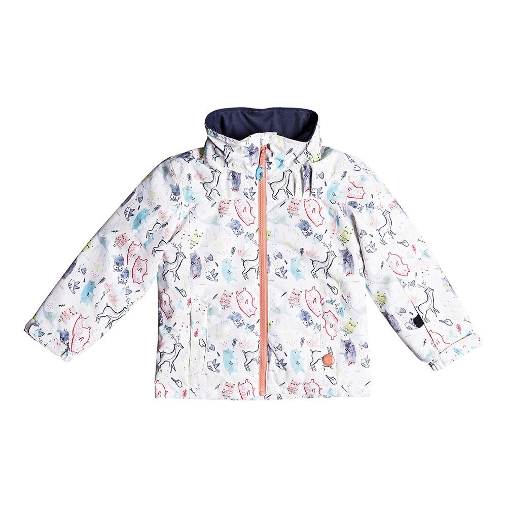 Roxy Mini Jetty Jacket Bright White Animals Party 2019