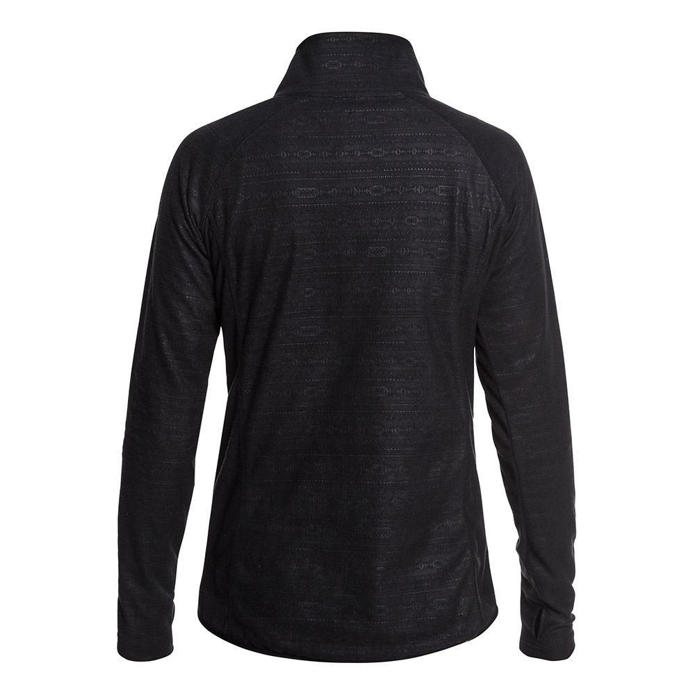 Roxy Cascade Fleece True Black Indie Stripes Emboss 2019