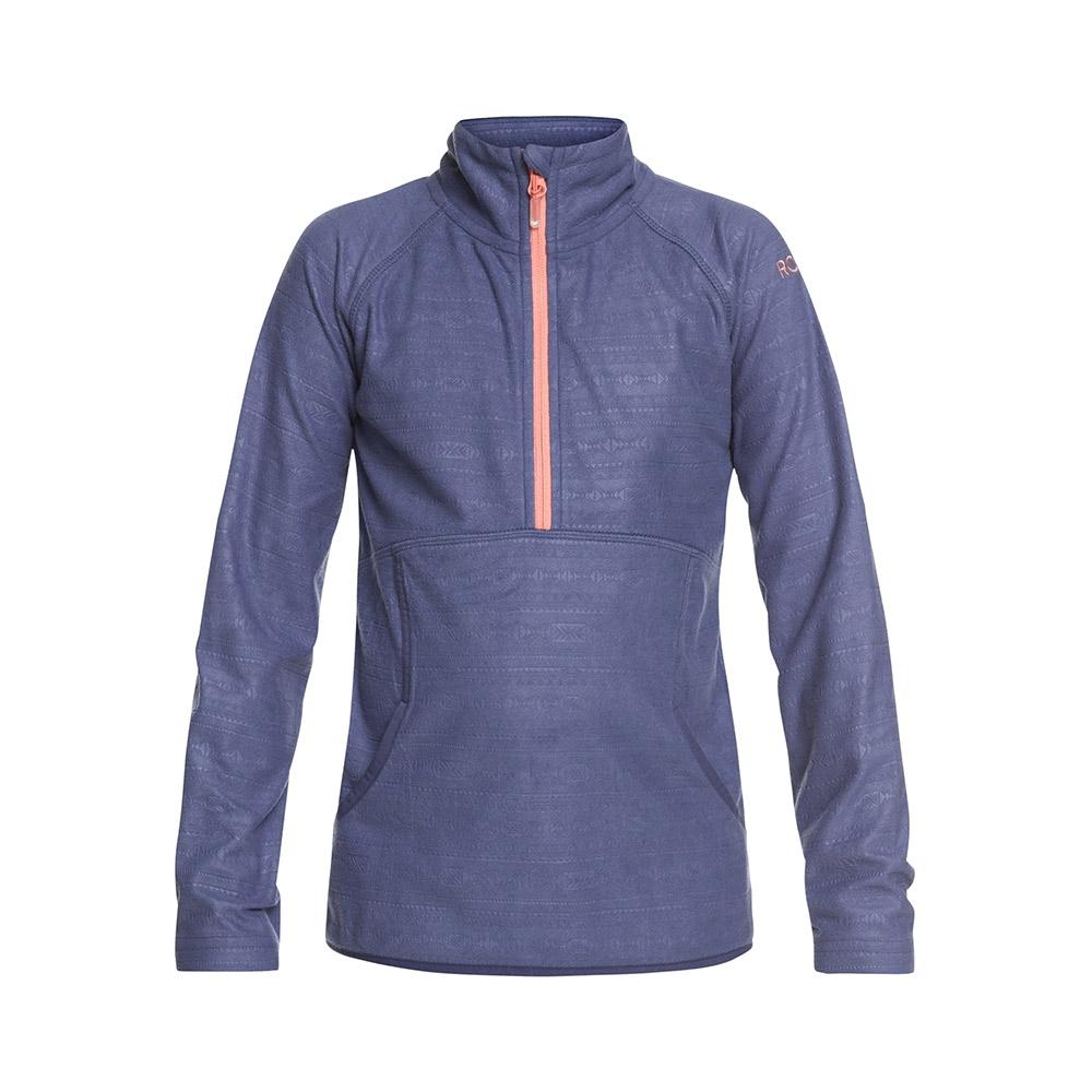 Roxy Cascade Girl Fleece Crown Blue Indie Stripes Emboss 2019