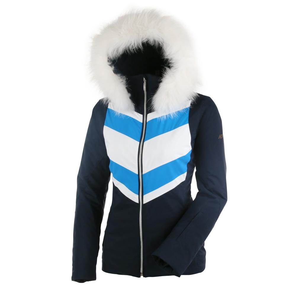 Henri Duvillard Dufour Real Fur Jacket Dark Navy 2019