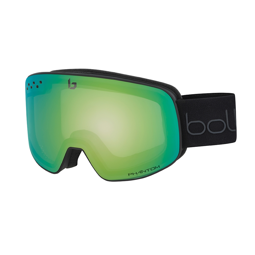 Bolle Nevada Goggle Matte Black/Green Diagonal NXT Modulator Green Emerald 2019