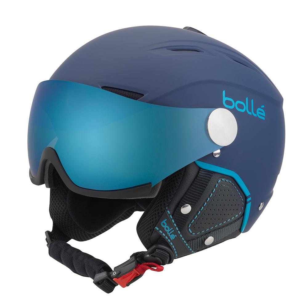 8cf23ba77bc Bolle Backline Visor Premium Helmet Soft Navy Cyan 2019