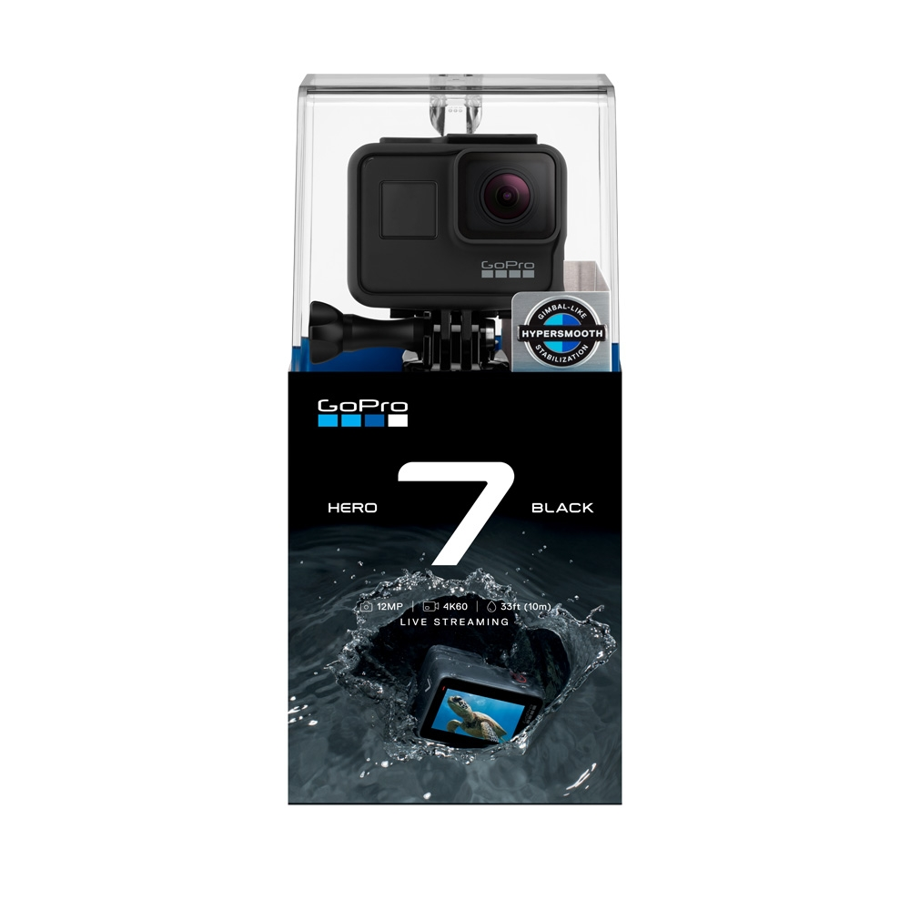 GoPro HERO7 Black 4K Action Camera with SD Card Bundle Boxed View