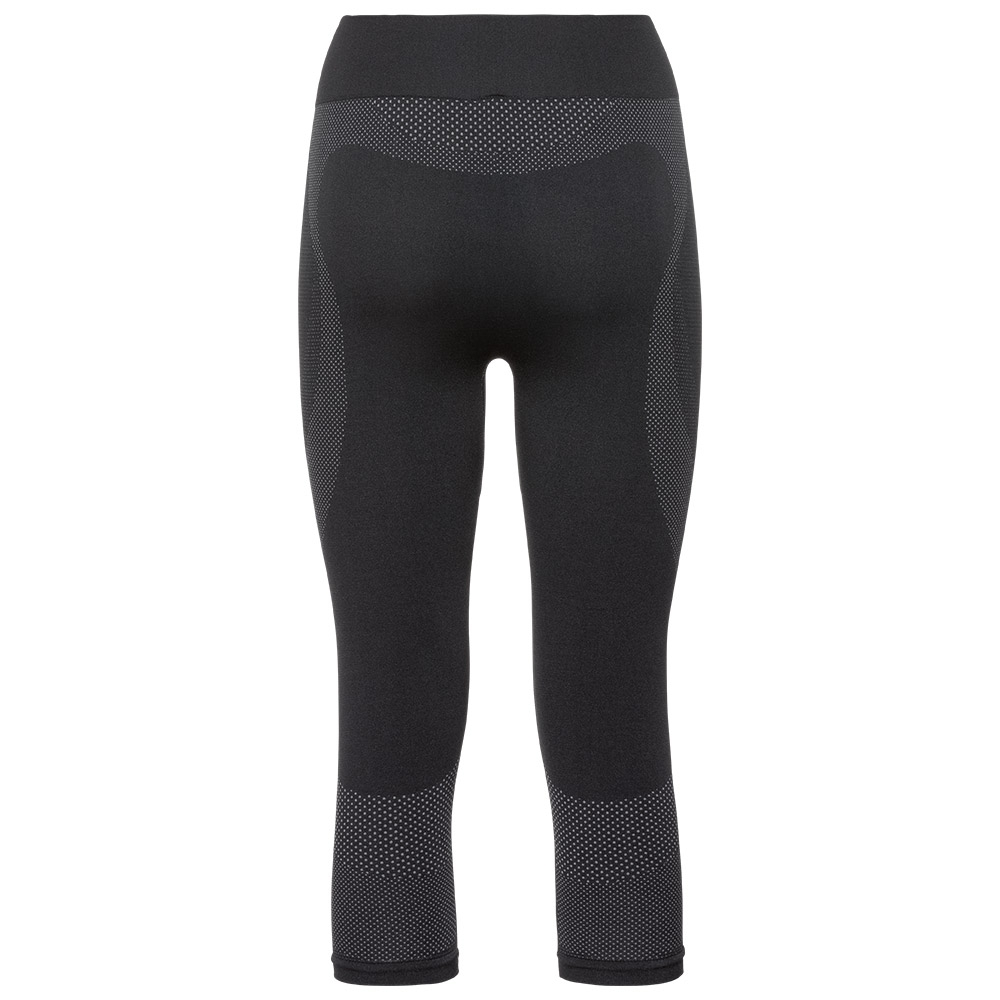 Odlo Performance Warm Suw Womens Pant 3/4 Black / Odlo Concrete Grey 2019