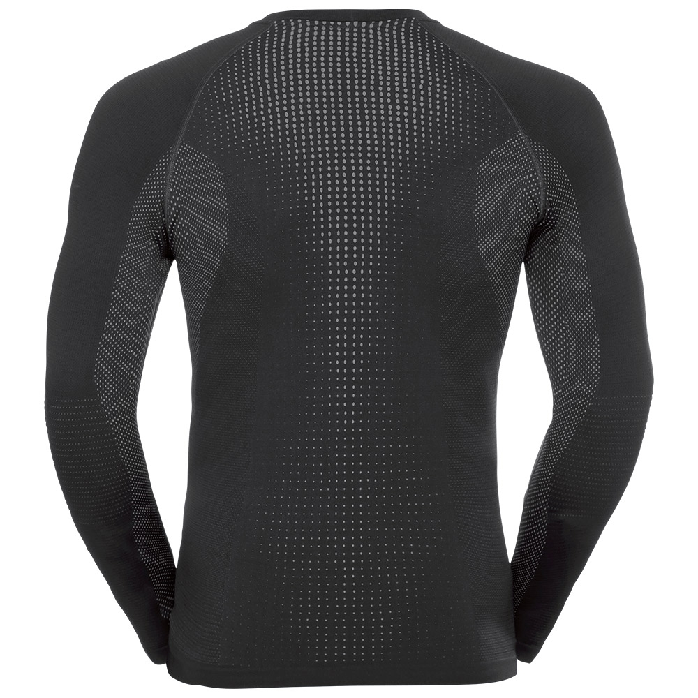 Odlo Performance Warm Suw Mens Crew Black / Odlo Concrete Grey 2019