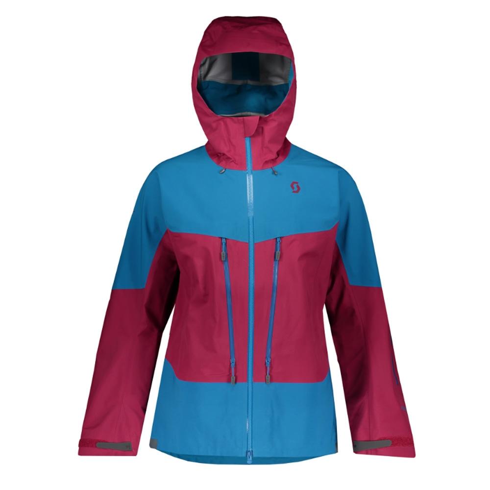 Scott Vertic Tour Jacket Biking Red/Mykonos Blue 2019