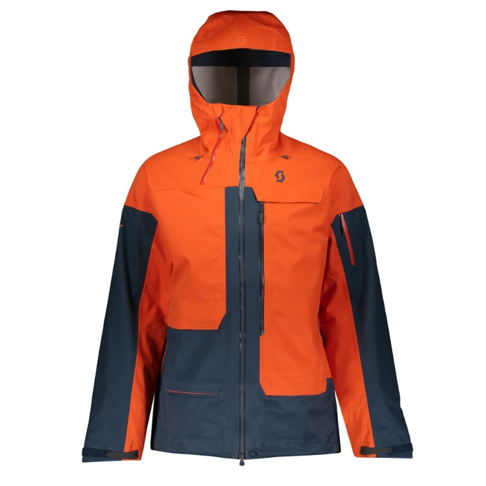 Scott Vertic 3L Jacket Tangerine Orange/Nightfall Blue 2019