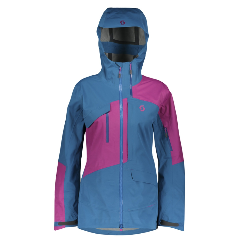 Scott Vertic 3L Womens Jacket Mykonos Blue/Festival Purple 2019