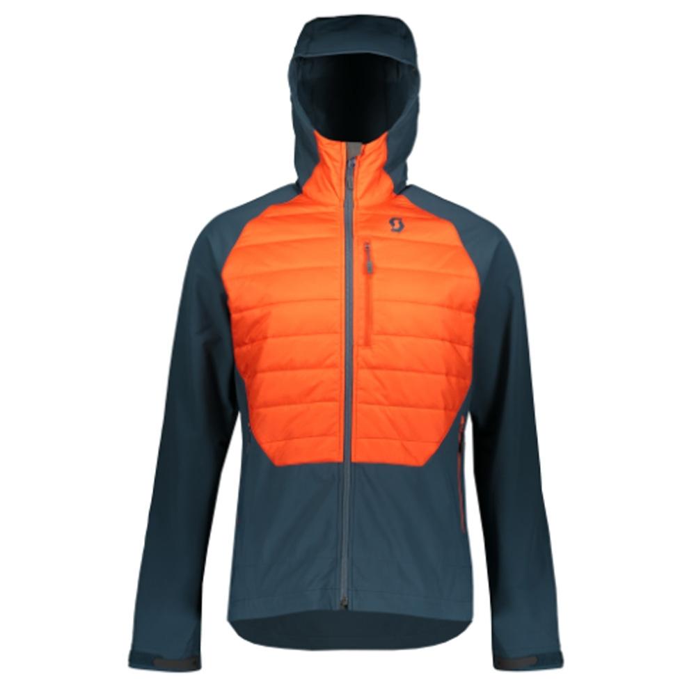 Scott Explorair Ascent Jacket Nightfall Blue/Tangerine Orange 2019