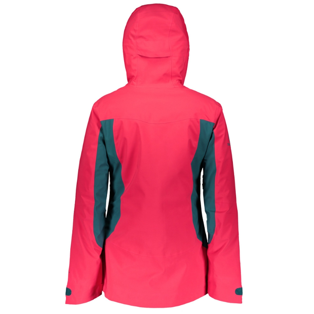 Scott Ultimate GTX Womens Jacket Hibiscus Red/Dragonfly Green 2019