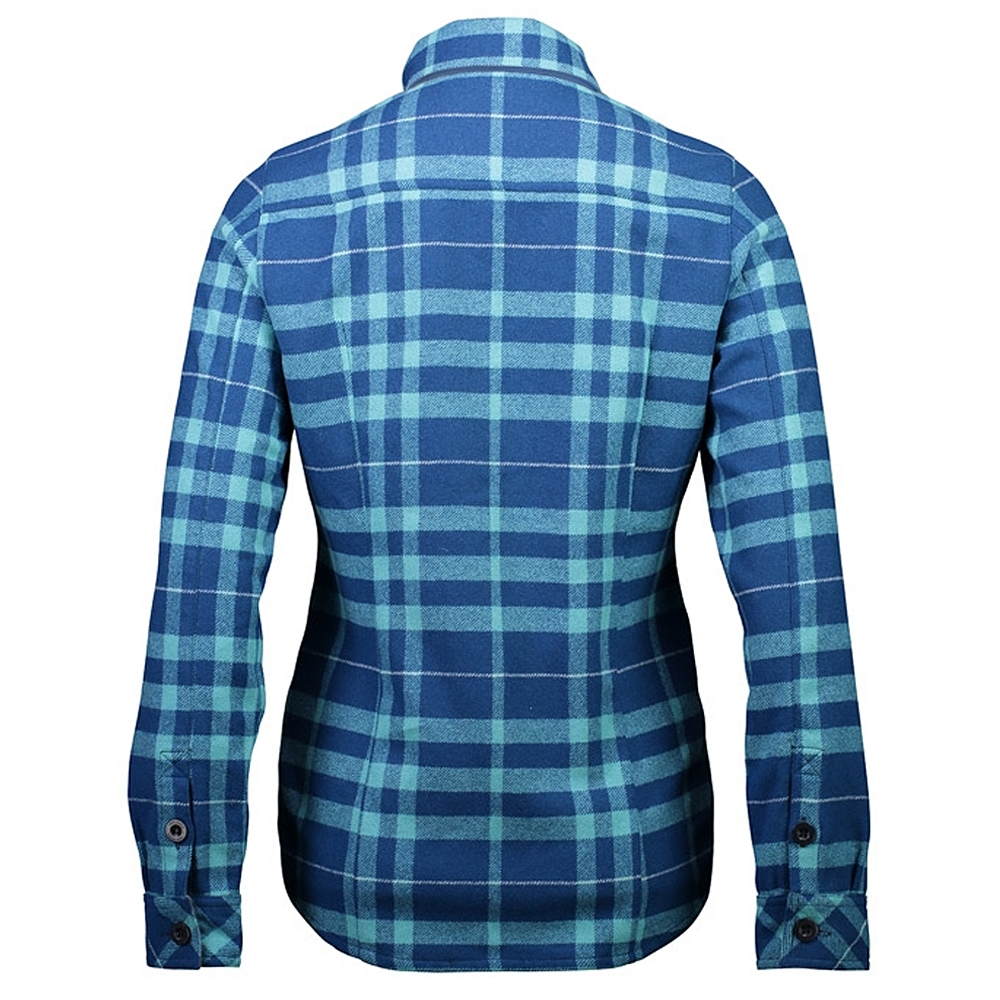 Mons Royale Mountain Shirt Womens Oily Blue/Tropicana 2019