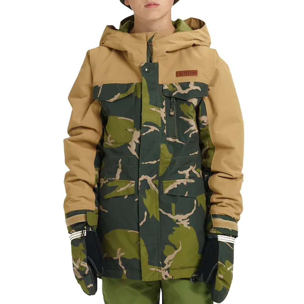 Burton Boys Covert Jacket Mountain Camo / Kelp 2019