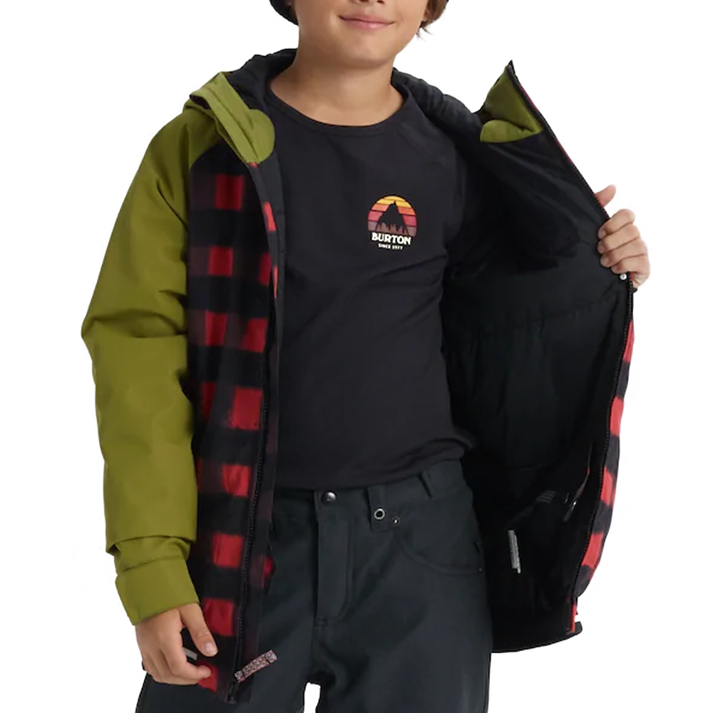Burton Boys Gameday Jacket Spray Buffalo / Olive Branch 2019