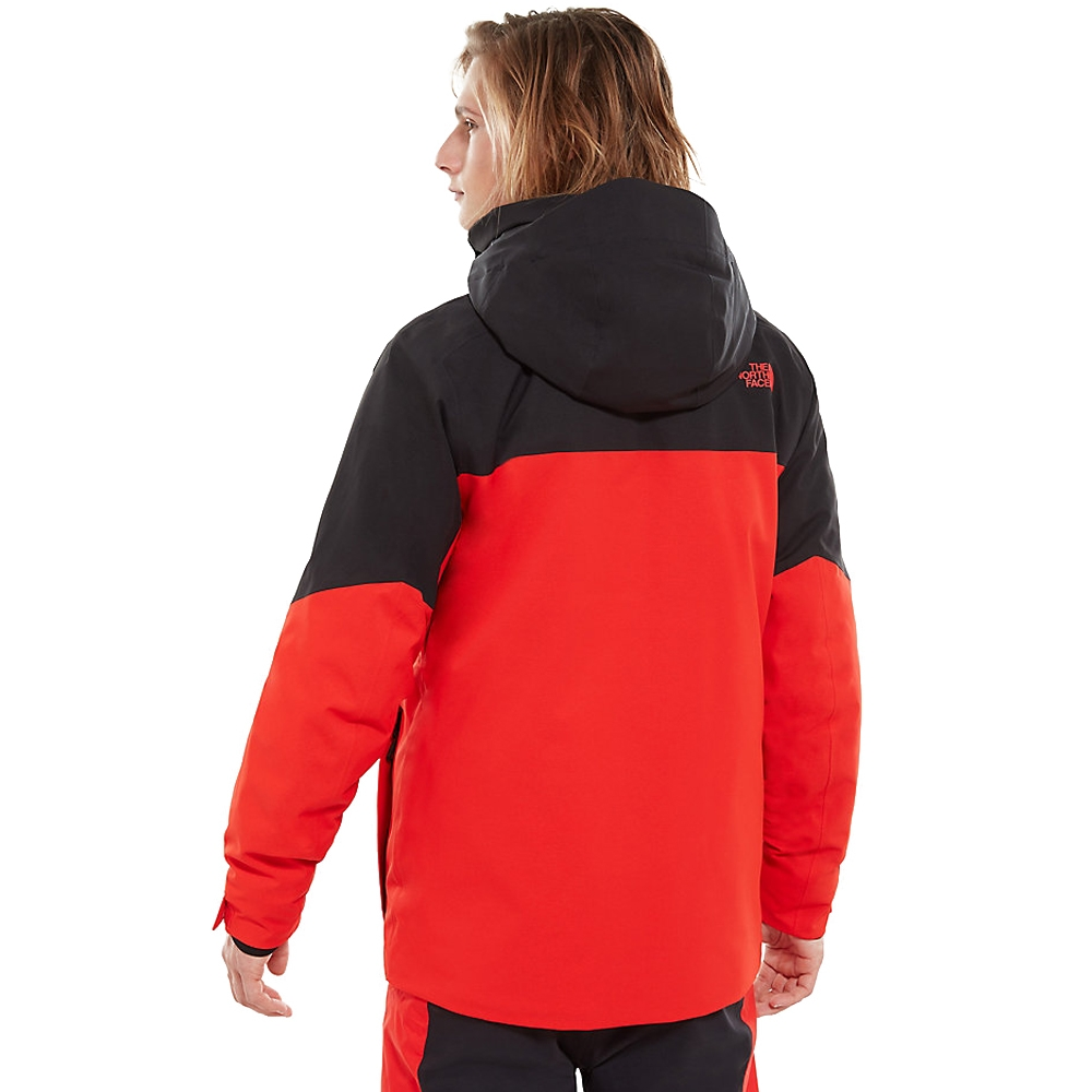 The North Face Mens Chakal Jacket Fiery Red Tnf Black 2019 Snowtrax