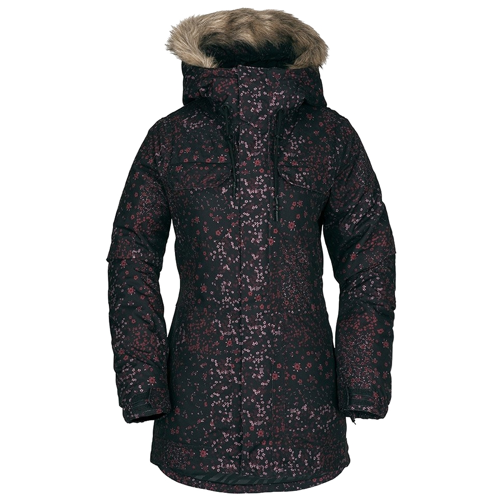 Volcom Shadow Insulated Womens Jacket Black Floral Print 2019