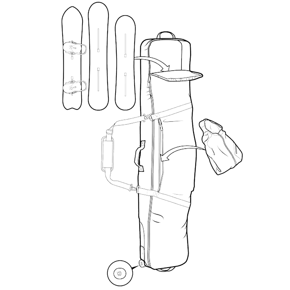 Burton Wheelie Gig Snowboard Bag Checkyoself Print 2019