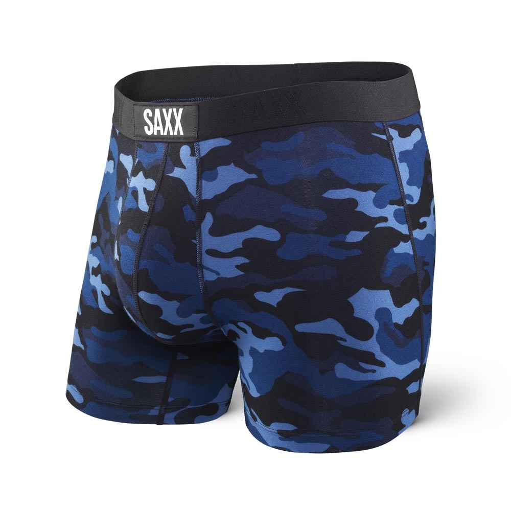 Saxx Vibe Boxer Modern Fit Blue Camouflage