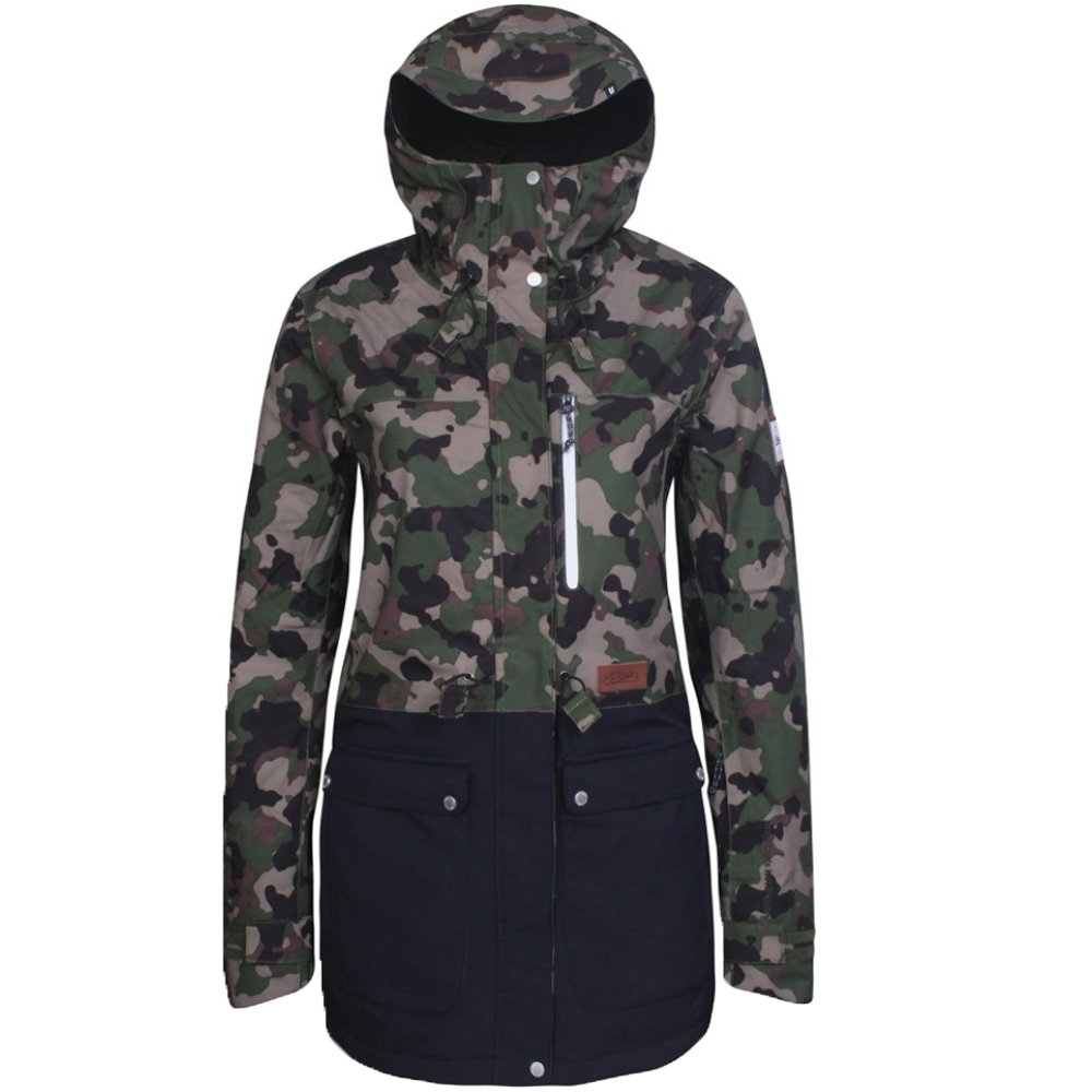 Planks Women s Good Times Insulated Jacket British Camo 2019